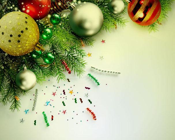 背景圣诞装饰PSD素材