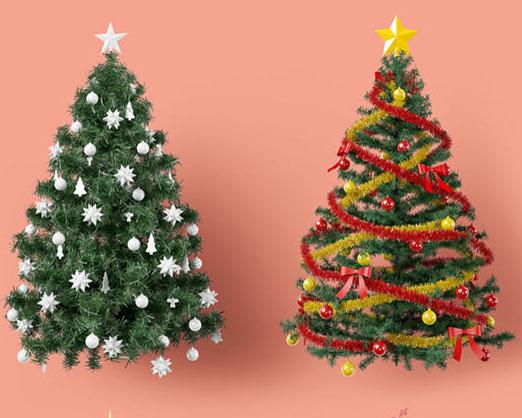 狂欢圣诞树PSD素材