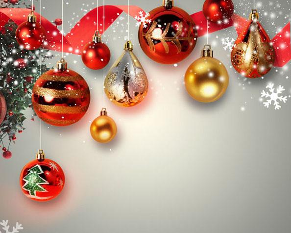 圣诞球装饰背景PSD素材