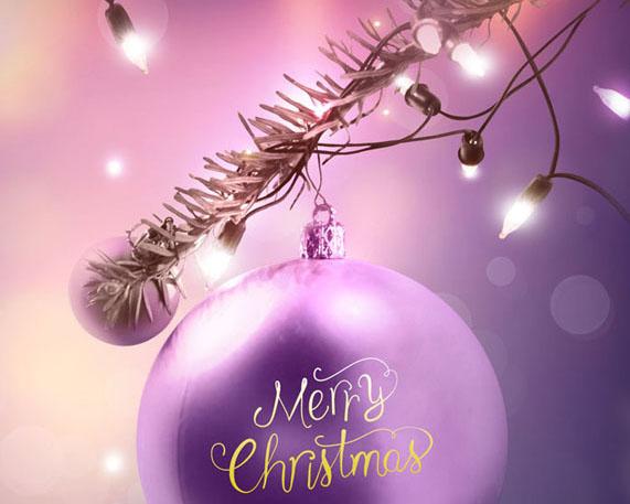 圣诞装饰球形PSD素材