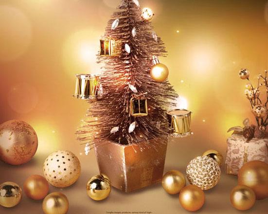 圣诞装饰球PSD素材