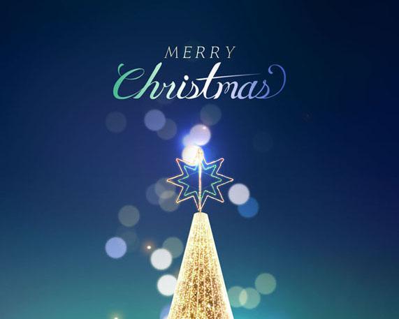 圣诞图形背景PSD素材