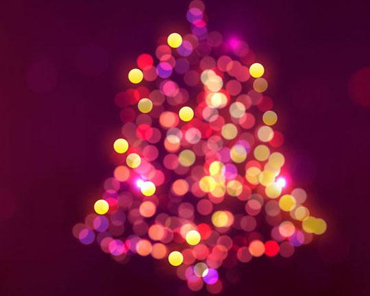 圣诞背景星光PSD素材