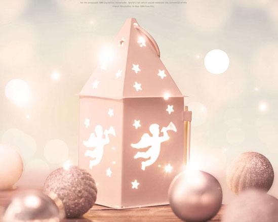 梦幻圣诞背景PSD素材