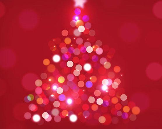 星光圣诞树背景PSD素材