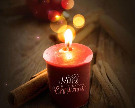 圣诞蜡烛光芒PSD素材
