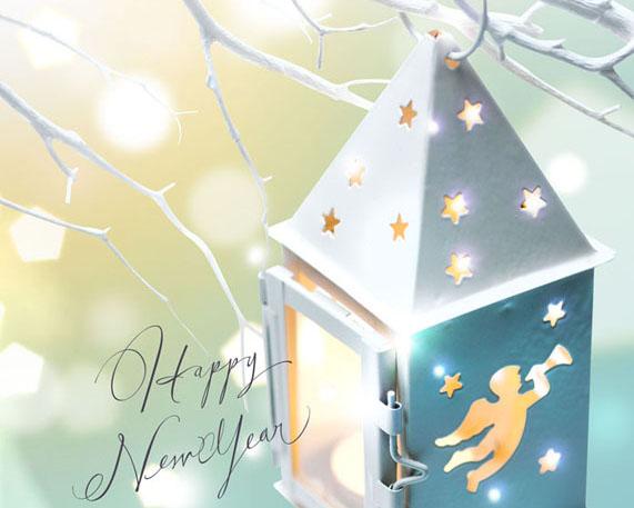 圣诞装饰小屋PSD素材