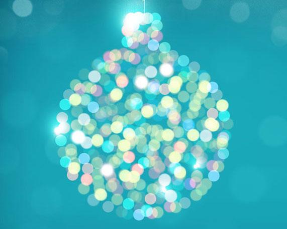 星光圣诞球PSD素材