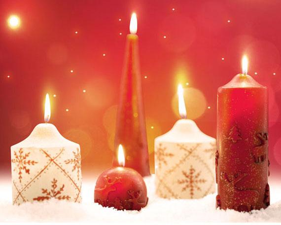 圣诞蜡烛灯PSD素材