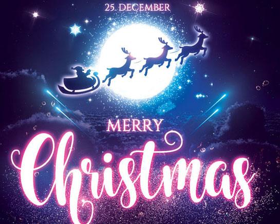 圣诞节国外海报PSD素材