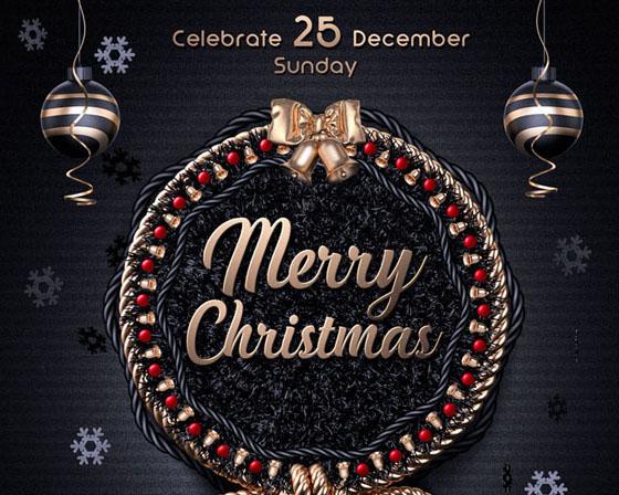 圣诞封面装饰物PSD素材
