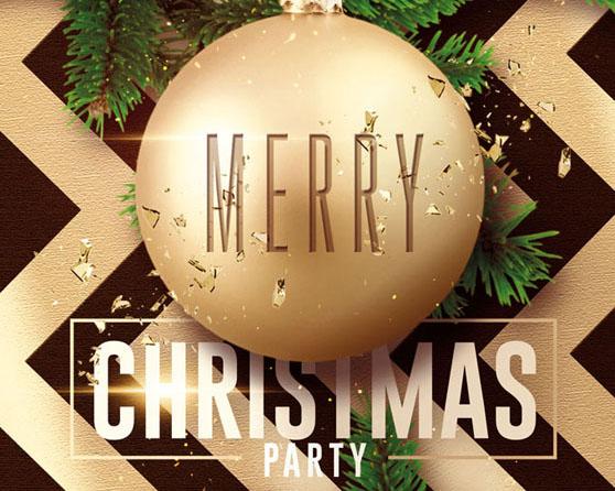 封面圣诞装饰PSD素材