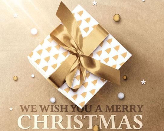 圣诞礼物背景PSD素材