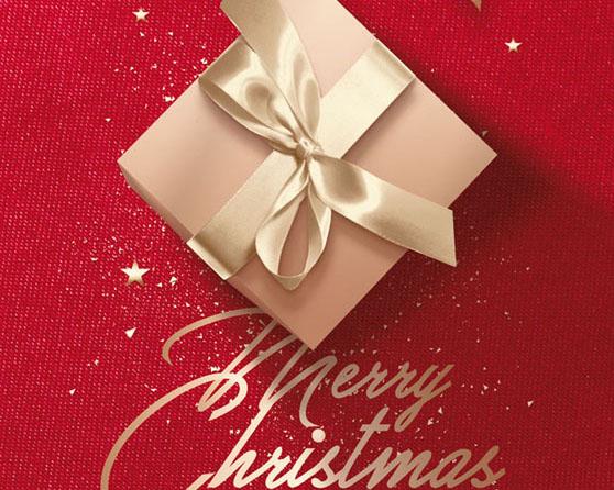 圣诞节包装礼盒PSD素材