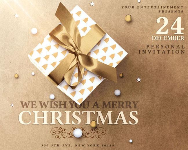 圣诞节日礼物PSD素材