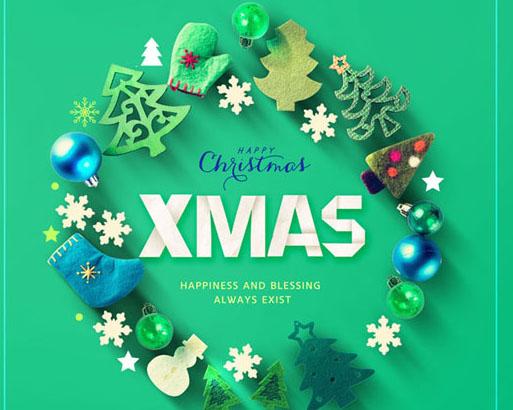 圣诞节海报装饰PSD素材