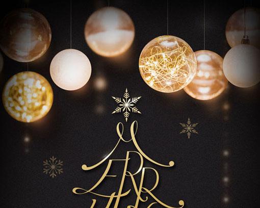 圣诞节背景球PSD素材