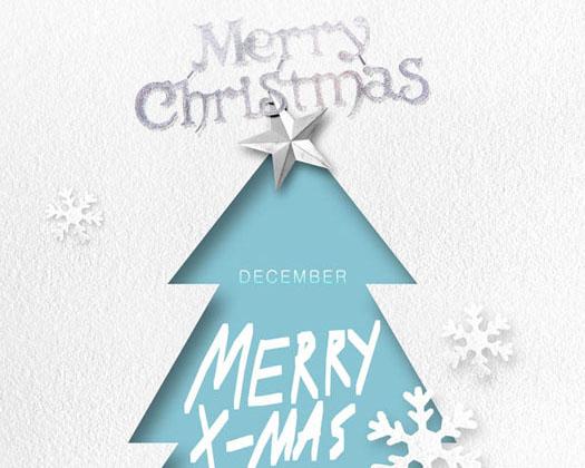 圣诞绘画PSD素材