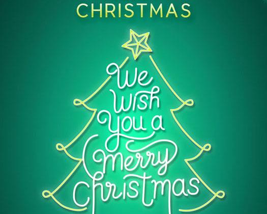 圣诞树封面PSD素材