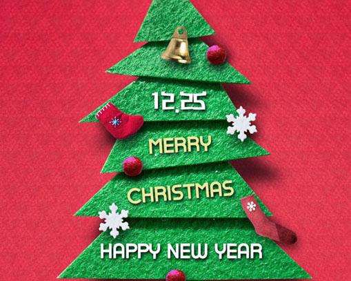圣诞树背景PSD素材