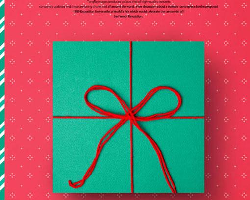 圣诞节礼物盒PSD素材