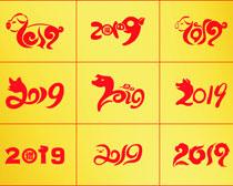 2019字体设计矢量素材