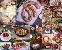 香肠饼食材摄影高清图片