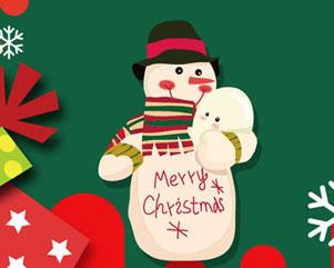 圣诞卡通雪人横幅PSD素材