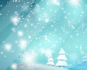星光圣诞节横幅PSD素材