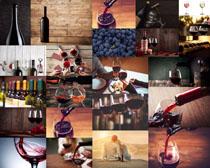 葡萄红酒摄影高清图片