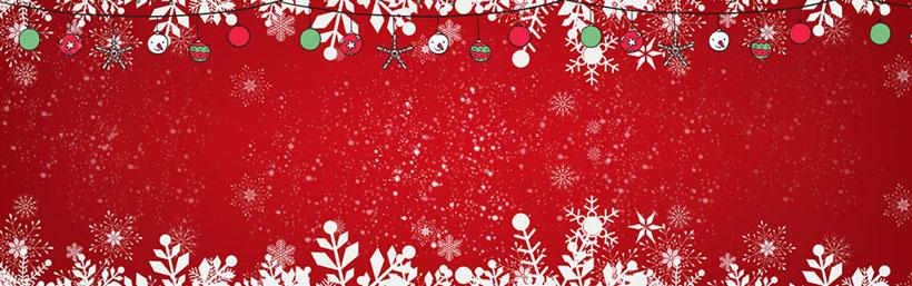 红色圣诞横幅场景PSD素材