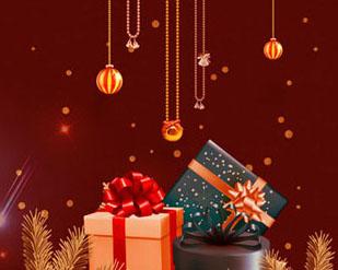 圣诞礼物装饰横幅PSD素材