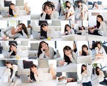 办公休闲美女拍摄高清图片