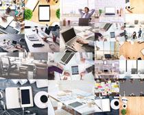 辦公室商務筆記本攝影高清圖片