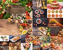 蔬菜汉堡包食物摄影高清图片
