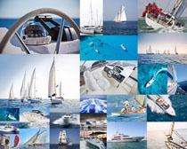 海上快艇交通工具摄影高清图片