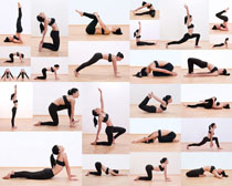 健身体操运动女人拍摄高清图片