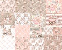 粉色卡通图案背景PSD素材