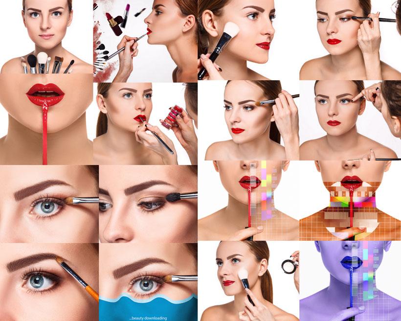化妆的女性女人摄影高清图片