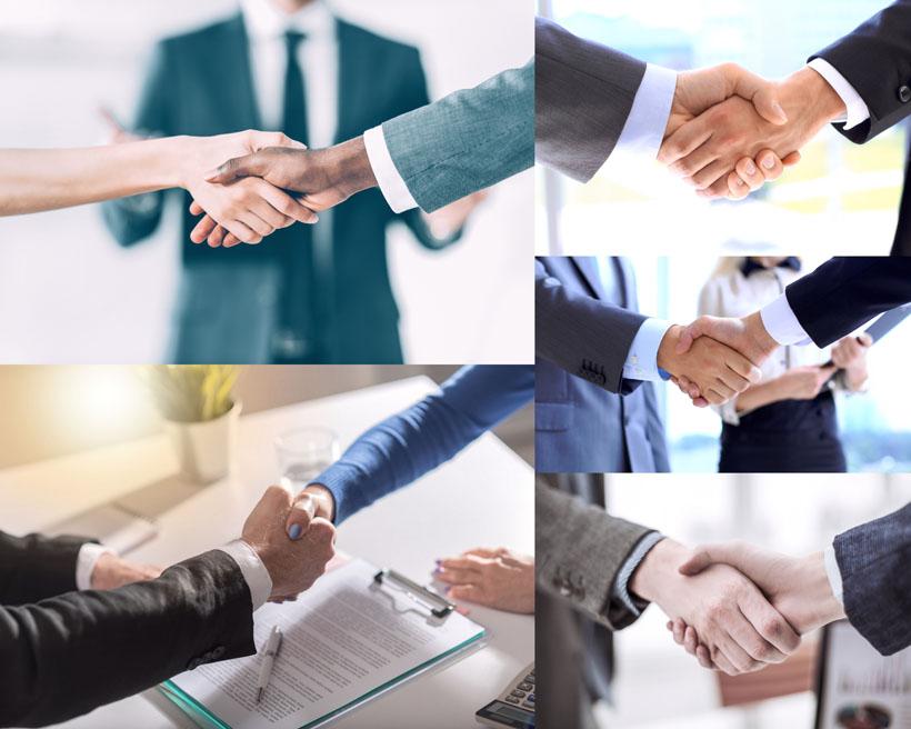 成功的握手人士摄影高清图片