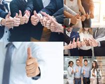 商務人士大拇指攝影高清圖片