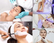 臉部護理女性SPA攝影高清圖片