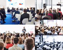 開會的商務人士攝影高清圖片