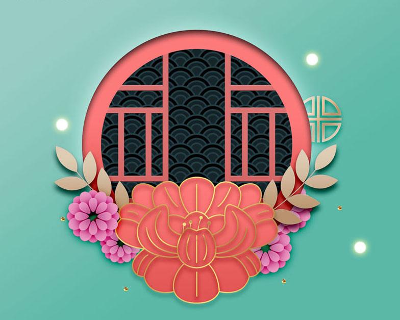 春节艺术风PSD素材