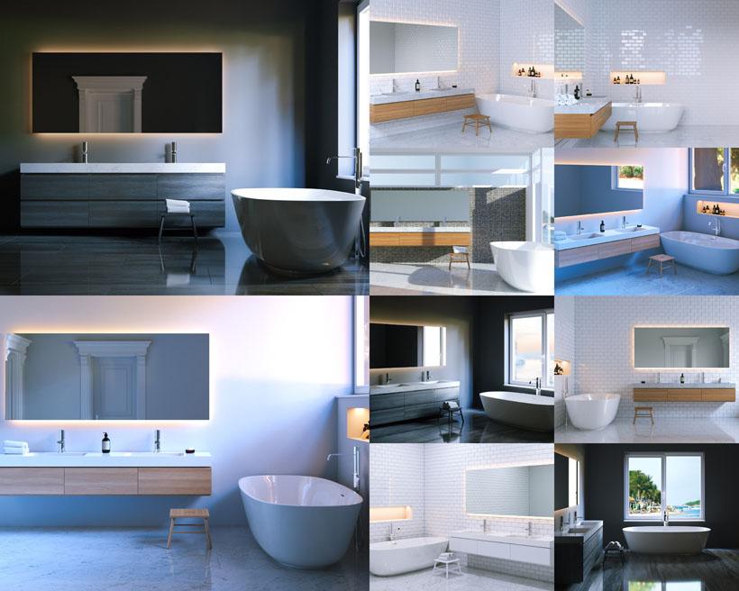 高檔衛浴裝修風格攝影高清圖片