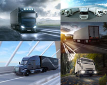 公路运输货车拍摄高清图片