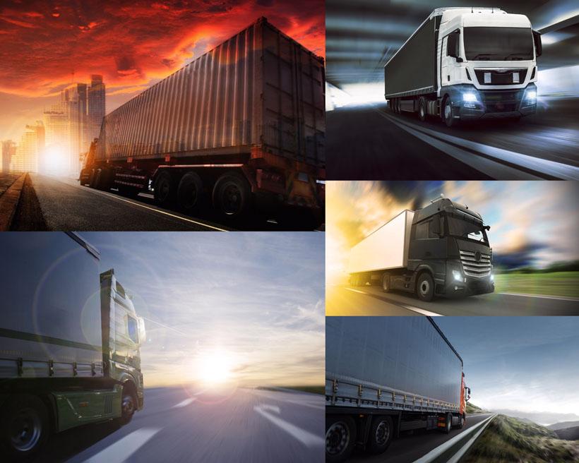 运输的大型货车摄影高清图片