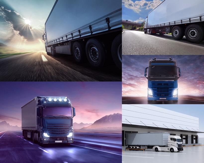 国外大型货车摄影高清图片