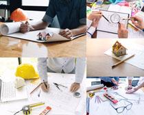建筑图纸方案摄影高清图片