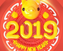 2019新年海报设计PSD素材